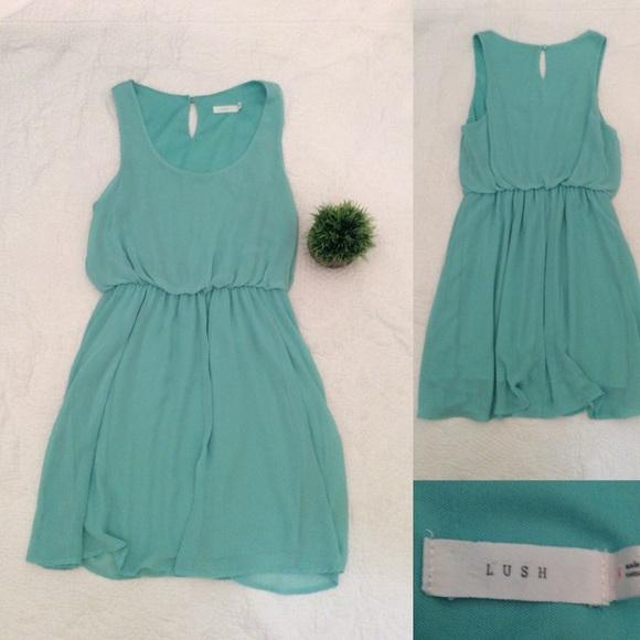 Lush Dresses & Skirts - 👗 Lush Blue empire waist v neck dress